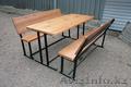 Деревянные столы и лавочки для летних кафе и пивных баров