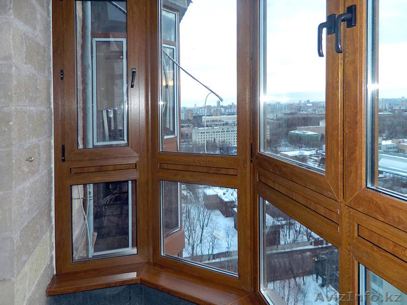 Балкон пластиковый в караганде. остекление балконов, лоджий .